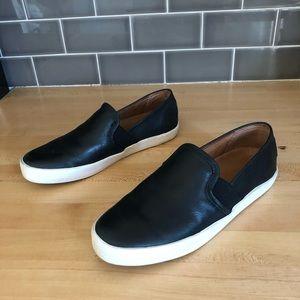 Frye DYLAN 6.5M black leather slip on shoes